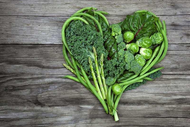 Rau xanh có tính kiềm tự nhiên nên nó giúp giảm axit dạ dày