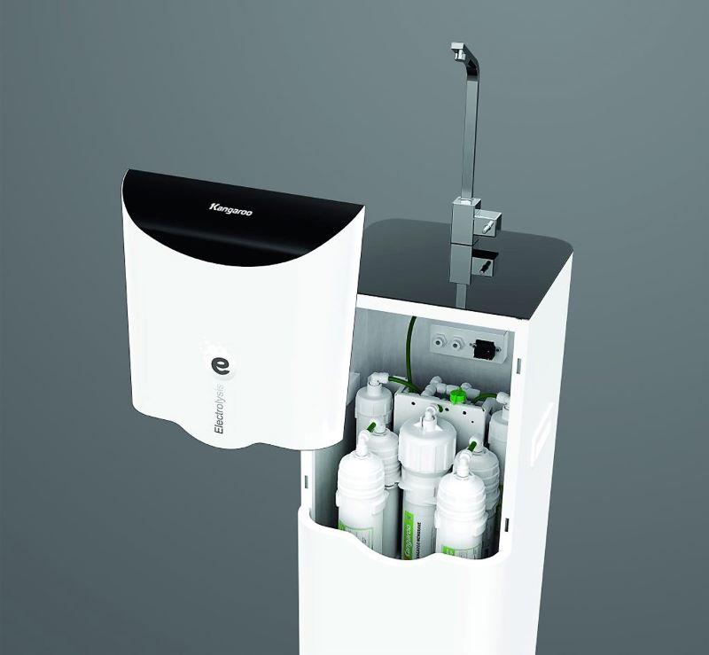 Máy lọc nước KG100ES được tích hợp công nghệ điện phân nước RO độc quyền