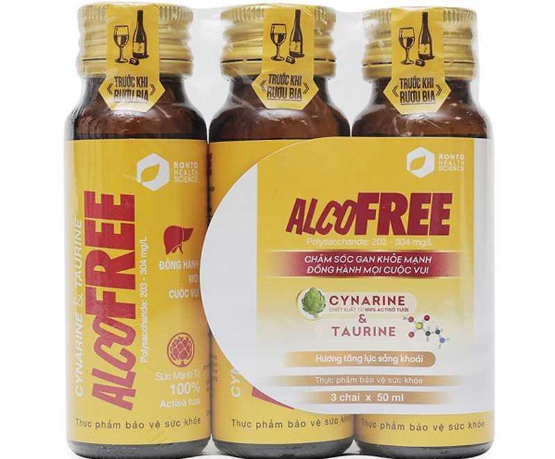 Nước giải rượu Alcofree là một trong những sản phẩm được nhiều người dùng