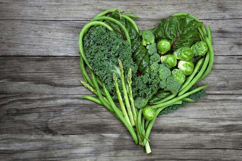 Rau xanh lá giúp cung cấp dưỡng chất và khoáng chất cần thiết cho cơ thể