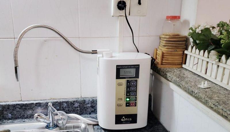 Máy điện giải ion kiềm Atica Silver là mẫu máy có kích thước nhỏ gọn