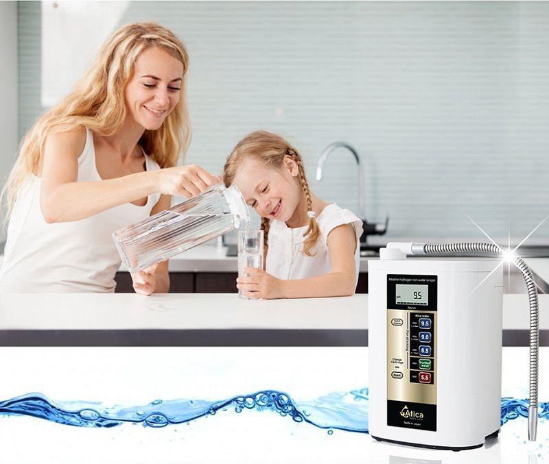 Máy lọc mước Atica Eco Hitachi giúp tạo ra 5 nguồn nước có độ pH khác nhau