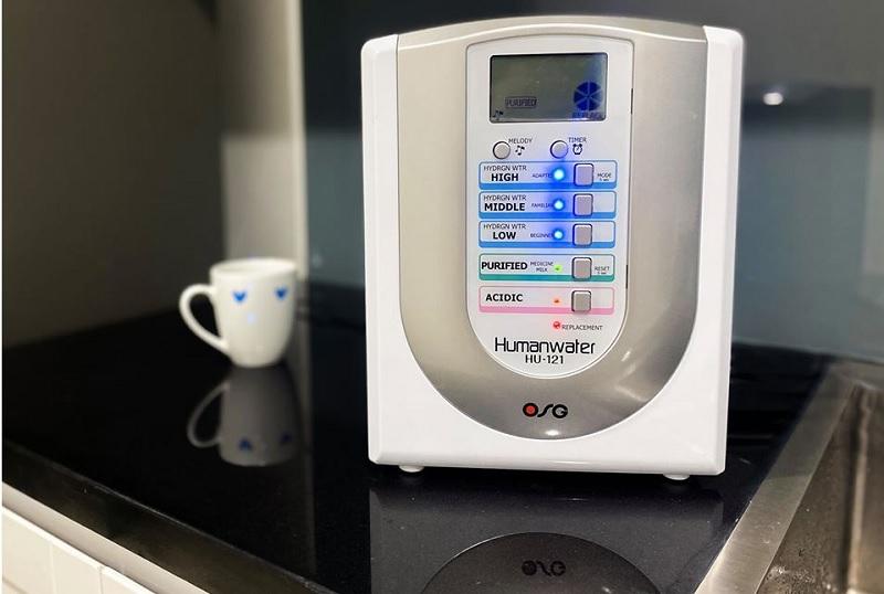 Human Water HU-121 giúp mang tới 5 loại nước với các cấp độ pH khác nhau
