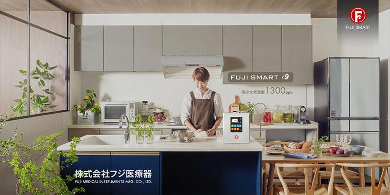 Máy lọc nước ion kiềm Fuji Smart i9 cho ra thành phẩm là nước uống chức năng theo chuẩn y tế Nhật